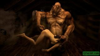 Orc fucker. 3D Hentai horror